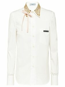 Prada studded collar shirt - White