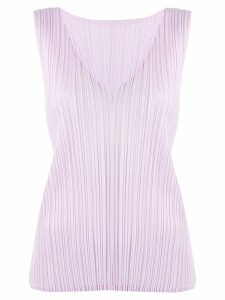 Pleats Please Issey Miyake pleated tank top - PINK