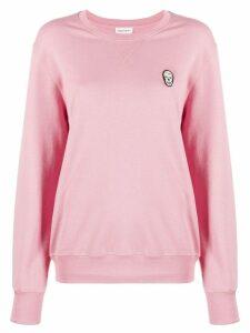 Alexander McQueen skull motif patch sweatshirt - Pink
