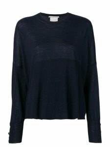 Stella McCartney relaxed fit knitted top - Blue
