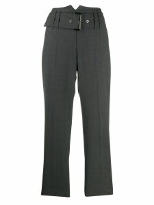 Brunello Cucinelli belted cropped trousers - Grey
