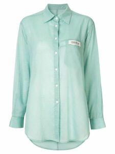 Kimhekim logo tag shirt - Green