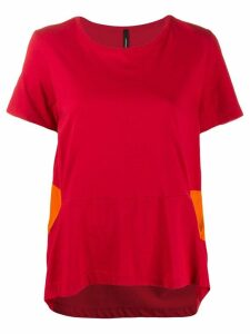 Pierantoniogaspari contrast detail T-shirt - Red
