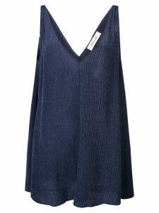 Diane von Furstenberg sleeveless flared top - Blue