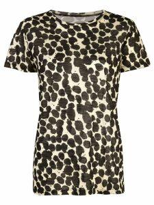 Proenza Schouler Painted Dot Short Sleeve T-Shirt - Black