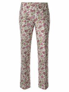 Giambattista Valli floral flare trousers - PINK