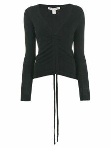 Autumn Cashmere cashmere draped neck sweater - Black