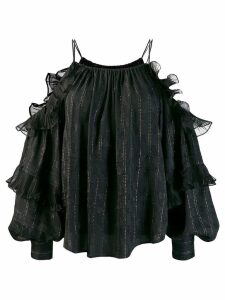 Isabel Marant cold shoulder blouse - Black