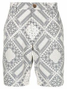 Ports V bandana print shorts - White