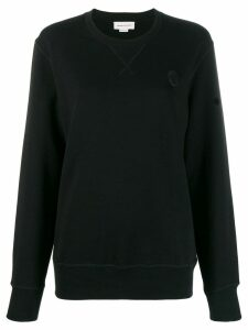 Alexander McQueen skull patch sweatshirt - Black