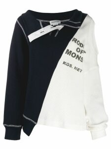 Monse colour block sweater - Blue