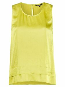 Luisa Cerano double hem sleeveless blouse - Green