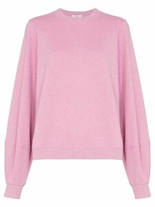 GANNI balloon sleeve sweatshirt - PINK