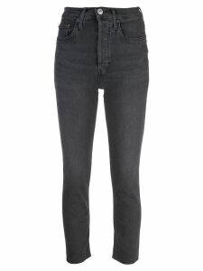 Re/Done cropped skinny jeans - Grey