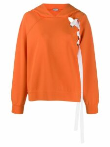 MRZ lace up hoodie - ORANGE