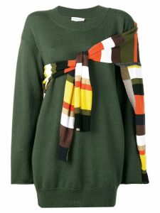 Sonia Rykiel striped detail jumper - Green