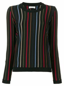 Sonia Rykiel striped knit jumper - Black