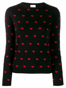 Red Valentino Heart print sweater - Black