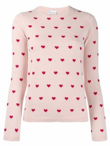 Red Valentino Heart print sweater - Pink