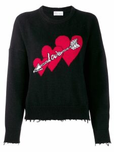 RedValentino Love print jumper - Black
