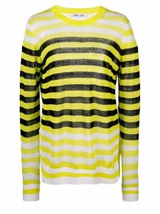 Diane von Furstenberg striped long-sleeve top - Yellow