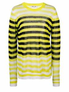Diane von Furstenberg striped long-sleeve top - Yellow