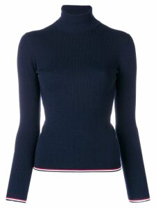 Thom Browne RWB Tipping Stripe Merino Turtleneck - Blue