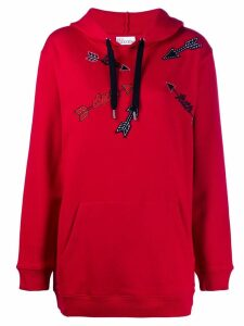Red Valentino appliqué detail hoodie