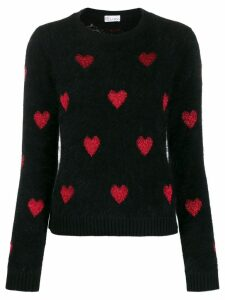 Red Valentino metallic hearts jumper - Black