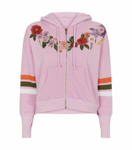 Floral Zip-Through Hoodie