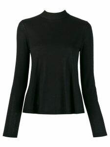 Red Valentino ribbed high neck jumper - Black