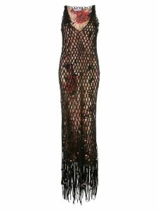 Salvatore Ferragamo layered mesh dress - Black