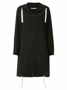 Mara Mac long-line hoodie - Black