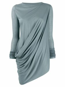 Rick Owens Lilies long-sleeved draped top - Blue