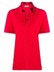 Alexander McQueen logo embroidered polo shirt
