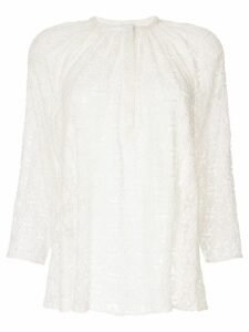 Giambattista Valli patterned blouse - White