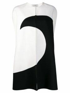 Valentino two-tone oversized coat - White