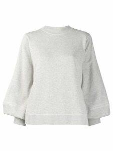 GANNI puff sleeve sweatshirt - Grey