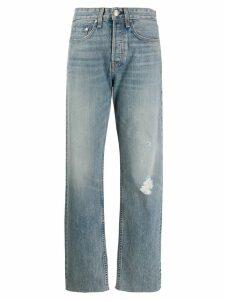 Rag & Bone distressed straight-leg jeans - Blue