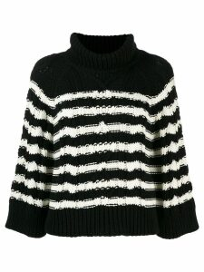 RedValentino RED(V) cable knit jumper - Black