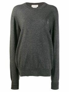 ALEXANDER MCQUEEN skull logo sweater - Grey