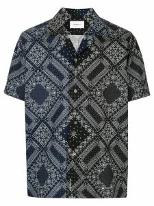 Ports V two-tone bandana print shirt - Black