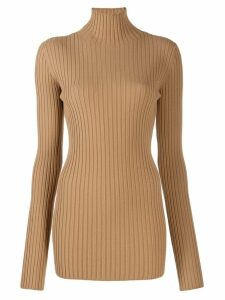 Mm6 Maison Margiela ribbed sweater - NEUTRALS