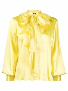 MSGM pussy bow blouse - Yellow