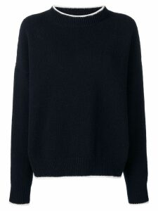 Marni ribbed fine knit sweater - Blue
