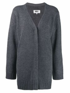 Mm6 Maison Margiela ribbed cardigan - Grey
