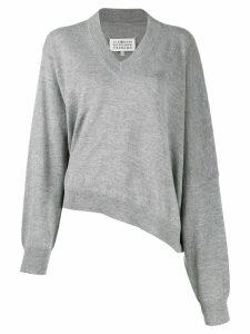 Maison Margiela v-neck sweater - Grey