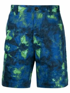 Ports V dye detail shorts - Blue