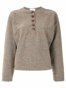 Framed wool sweater - Brown