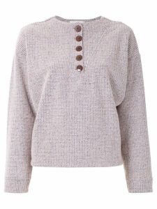 Framed wool sweater - Pink